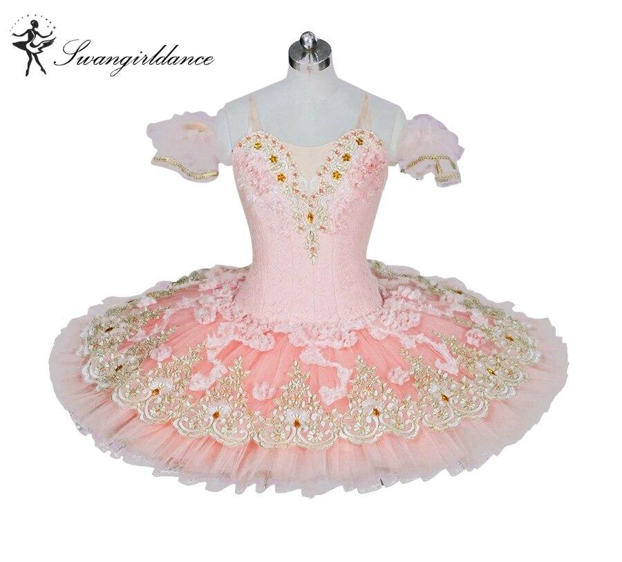 Adult pink peach nutcracker ballet tutus women platter tutu girls swan lake ballet costumes professional ballet tutus BT9028