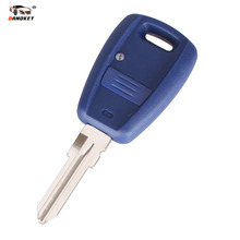 DANDKEY Car Key Cover 1 Button Remote Key Replacement Case For Fiat Car Key Shell Transponder Key Shell