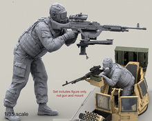 Free Shipping 1/35 Scale Unpainted Resin Figure USMC Soldier For MCTAGS and LAV-25 Turrets (just figure,excluded gun and mount)