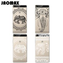 Animal Henna Mandala Elephant Case For Huawei P10 P9 P8 Lite Mate 8 9 Pro Honor 8 V8 5C Transparent Silicone Phone Cover Fundas