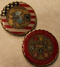 VIETNAM VET Challenge Coin Army Navy Marine Air Force S DHL free shipping 100pcs/lot(China)