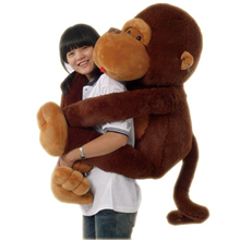 the stuffed lovely monkey animal plush toys big long arm monkey toy  doll big pillow birthday gift 110cm