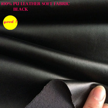 Good 69*50cm Synthetic Leather Black Faux Leather Fabric PU Leather Clothing Fabric Synthetic Leather Fabric Sewing Diy Pants(China)
