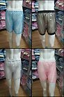 3 pieces  * ADULT BABY incontinence PLASTIC PANTS Transparent P012+Full Size:M  /L / XL /XXL
