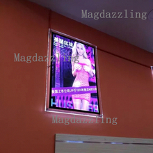 Ultra Slim Wall Mounted Acrylic Picture Frame LED Advertising Light Box Signs A2 for Shop Signs