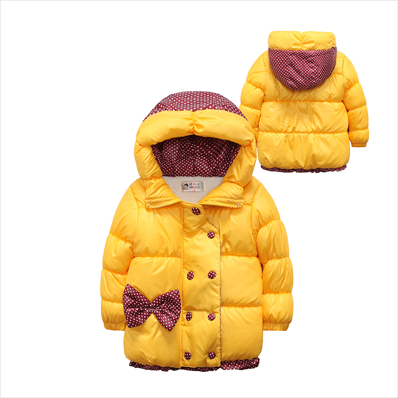 2017 Casual Children Coat Bow Baby Girls winter Coats kids long sleeve Overcoat girls warm jacket Outerwear Thick girls OutwearОдежда и ак�е��уары<br><br><br>Aliexpress