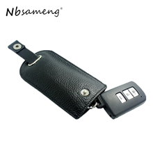 2018 High Quality Genuine Leather Key Wallet Auto Car Key Cases Men Real Leather Hasp Key Holder Women Housekeeper Key Pouch Bag