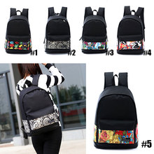 Fahsion Women Printing Backpack Preppy Style Book Bags For Laptop Vintage Rucksack WML99