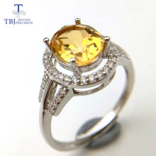 TBJ,Simple natural gemstone Ring,Natural 2ct Citrine oval cut 7*9mm in 925 sterling silver for women  ,original fine jewelry