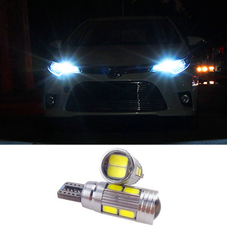 2 X T10 LED W5W Car LED Auto Lamp 12V Light bulbs with Projector Lens for toyota corolla avensis rav4 yaris camry Car Styling<br><br>Aliexpress