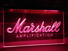 LL168- Marshall Guitars Bass Amplifier   LED Neon Light Sign    home decor  crafts
