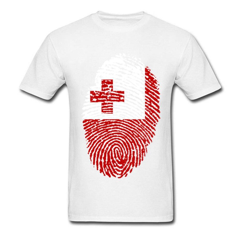 Tonga Flag Fingerprint_white