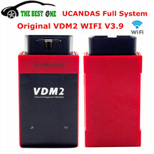 DHL Free Best UCANDAS VDM2 V3.9 WIFI Auto OBD2 Car Diagnostic Scanner For Android/Windows PS Free Update Online VDM 2 3.9 Wi-Fi