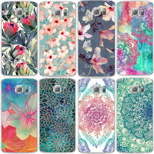 Flowers TPU Back Cover Case For Samsung Galaxy S3 S4 S5 S6 S7 Edge S8 Plus J2 J3 J5 J7 A3 A5 2016 2017 Core Grand Prime Coque