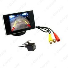 "2 in 1 Digital 3.5""inch TFT LCD Reverse Monitor + Night Vision 4LED Reversing Camera Car Rear View System #CA3561"