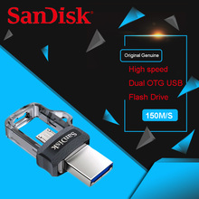 Sandisk USB Flash Drive Disk OTG 32G 64G 128G USB3.0 Pen Drive Tiny Pendrive Memory Stick Storage Device U Disk For Mobile Phone(China)
