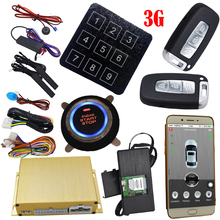 automotive gsm car alarm system with passwords touch key pad keyless entry mobile app start stop engine mobile voice monitoring(China)