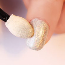 20Pcs Sponge Powder Puff Nail Brush Double-sided Eyeshadow Stick Cosmetic Makeup Manicure Nail Art Tool Set
