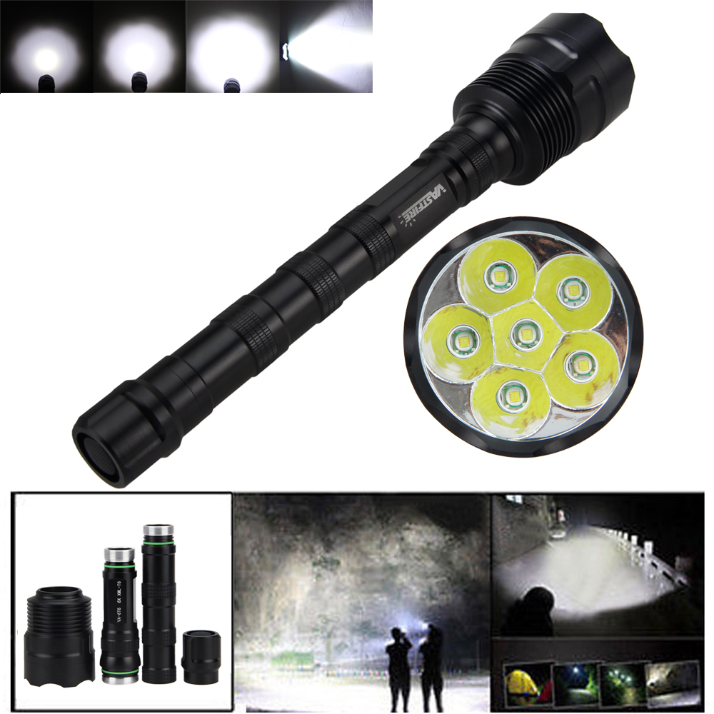 Rechargeable Tactical 15000LM 6XM-L T6 LED Flashlight Torch Light Lamp 3*18650+Charger<br>