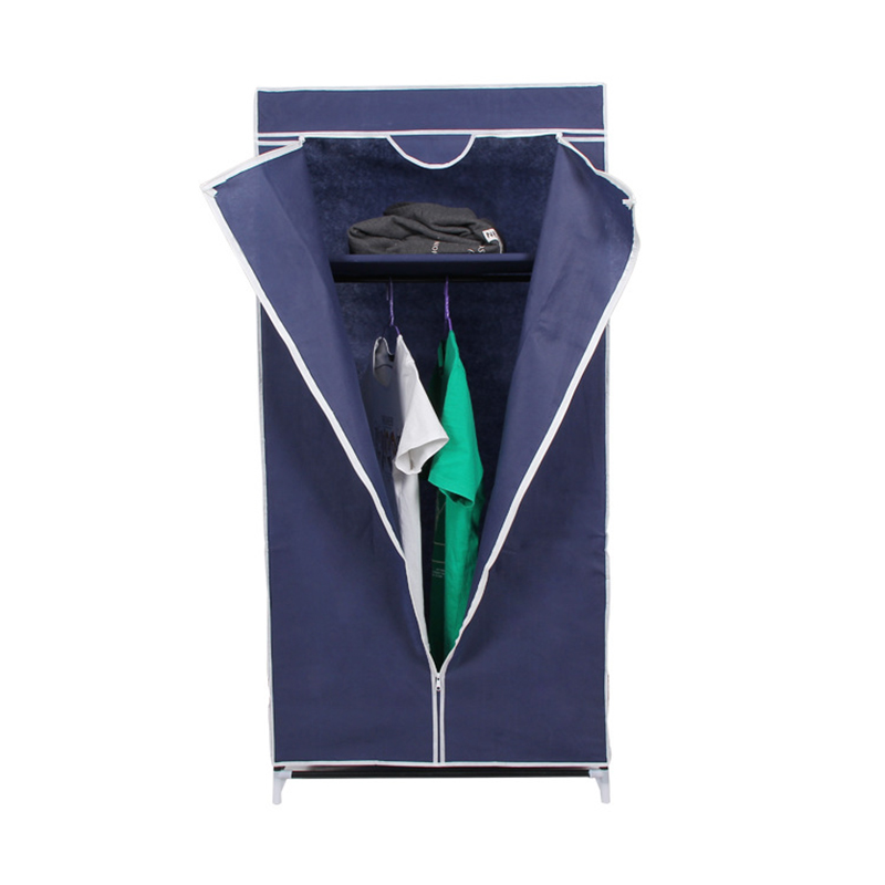 Combination storage wardrobe folding wardrobe assembly steel pipe cloth wardrobe non - woven steel frame combination <br>