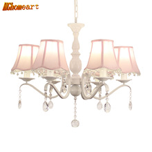 HGHomeart European Pastoral Chandeliers LED Lustre Design Chandelier Lamp  Suspension Living Room Crystals Light Home Lighting