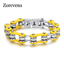 ZORCVENS Christmas Gift Cool Bike Chain Bracelets Women Stainless Steel Bangles Jewelry - Store store