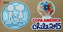COPA AMERICA 2015 Chile soccer jersey parche set Iron-on parche Argentina, Brazil patches