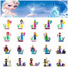 Single Sale Fairy Tale legoing Princess Ariel Aurora Girl Friends DIY Blocks Snow White Bella Model Building Doll Blocks Kid Toy