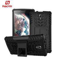 hacrin Lenovo A2010 Cover TPU & PC Dual Armor case with Stand Holder Silicone Cover Shock Proof Anti-Skid Combo A 2010 Case