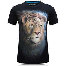 Buy Summer Men white T-shirt lion printed 3d tshirt homme casual Hipster Tees shirts male Cotton camisetas hombre Cool Design Tops for $8.19 in AliExpress store