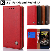 Buy K'try Case Xiaomi Redmi 4A Case Vintage Pu leather Silicone Cover Case coque Xiaomi Redmi 4A 5.0inch Fundas for $6.38 in AliExpress store