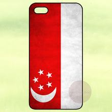 Singapore Flag Hard Back Cover Case for iPhone 4 4S 5 5S 5C 6 Plus iPod Touch Samsung Galaxy S3 S4 S5 Mini S6 S7 Edge Note 2 3