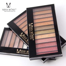 2017 MISS ROSE 12 Colors South America Eye Shadow Like The Flowder And The Butterfly Flying Earth Color Smoked Eye Shadow(China)