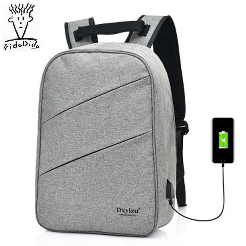 2017 USB charging Men Laptop Backpacks For Teenager Fashion Male Mochila Leisure Travel Backpack Anti Thief!!<br>