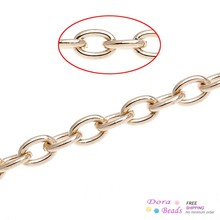 8SEASONS Link-Opened Cable Chains Findings rose gold color 5x3.5mm,10M (B32552)