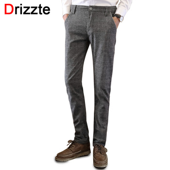 Drizzte Mens Casual Dress Stretch Sanded Chino Pants Trousers Black Blue Grey 28 29 30 31 32 33 34 36 38