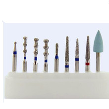 45 Pieces /Lot (5 Boxes ) Dental High Speed Diamond Burs Kit Dental Instrument Professional For Porcelain Veneers Preparation