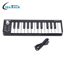 High Quality Portable Velocity-sensitive Keyboard Mini Durable 25-Key USB MIDI Controller