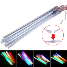 Waterproof LED Christmas Lights 10pcs/set SMD2835 50cm Snowfall Tube Meteor Rain Led Tube Light Christmas Decoration Outdoor