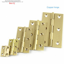 Free shipping pure copper hinge, antique hinge, furniture size, size hinge, pure copper cabinet hinge