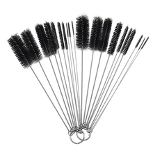 10 Pcs Nylon Bottle Tube Nozzle Brushes Cleaning Brush Kitchen Cleaner Set(China)