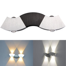 Newest 3W 3LED Sconce Wall Light Up/Down Spot Lamp Hotel Hallway Porch Lighting