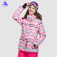 VECTOR Brand Women Ski Jacket Windproof Waterproof Warm Winter Jackets Skiing Snowboarding Clothing Outdoor Sport Snow Coat(China)