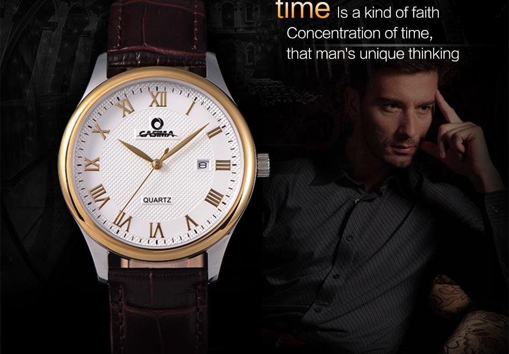 ساعة يد رجالية جلد 5