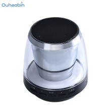 2017 HOT New Mini Portable Cylinder Card USB LED Bluetooth Speaker For iPod iPhones Phone PC Light Wireless Speakers Set25(China)