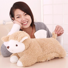 40*20cm 2Styles Cute Cartoon Sheep Plush Animal Toy Kawaii Sheep Shaped Tissue Box Case Napkin Paper Holder 3Colors