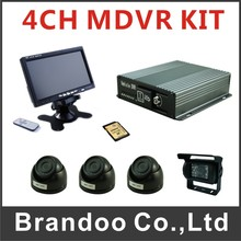 4 Channel 720P mobile DVR kit, Russia menu, used on bus/taxi/truck/ship/police car/tank/school bus(China)