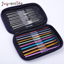 JOY-ENLIFE 22pcs Metal Crochet Weaving Pins Stainless Steel Circular Knitting Needles Knit Set Sweater Gloves Needlework Tools(China)