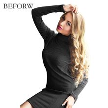 Buy BEFORW Work Cotton Women Autumn Dress Sexy Sweater Dress Women Knitted Winter Long Sleeve Dress Warm Autumn Womens Clothing for $9.91 in AliExpress store