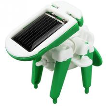 1set Solar Power 6 in 1 boys girls DIY dog plane boat shape creative novely fashion toy learn Educational kids toy gift
